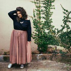 saia midi, blusa feminina, look do dia, tumblr girl, sustentabilidade, moda consciente, moda sustentável, moda 2017, moda outono inverno, cores  pasteis, pastel