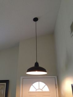 New light fixture.. It was white and chrome color. Painted and textured the inside. Only $30!