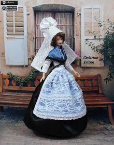 """Robe Barbie """" N°4 Basse-Normandie """" Tenue pour poupée Barbie f3788"""