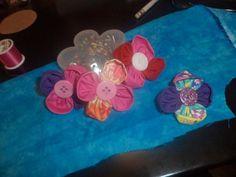 flower hair clips by Sophiasfabricflower on Etsy, $2.75