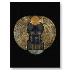 Egyptian Winged Scarab Postcard by SteveBrownleeArt