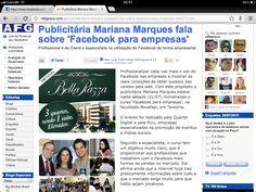 Matéria no Portal 180 Graus sobre o curso Facebook para Empresas com Mariana Marques em Teresina.