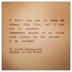 Scott Fitzgerald Quotes F. Scott Fitzgerald Quotes The post Quotes F Scott Fitzgerald This Side Of Paradise appeared first on Share Online Great Quotes, Quotes To Live By, Inspirational Quotes, Past Love Quotes, The Words, Night Quotes, Book Quotes, Literature Quotes, Poetry Quotes