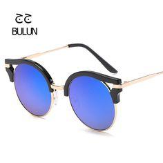 BULUN Summer Style Fashion Cat Eye Sunglasses Round Lenses Glasses Women Eyewear Brand Designer For Women Driving Oculos De Sol