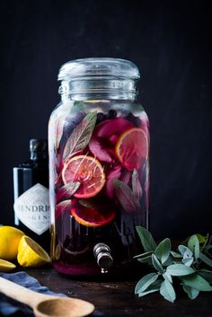 Blueberry and Sage Gin Punch