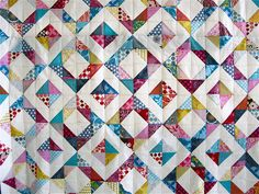{ geometric squares quilt } by { philistine made }, via Flickr