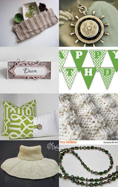 Gray and Green by Robin on Etsy--Pinned with TreasuryPin.com