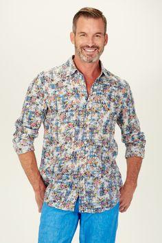 Printed linen shirt // new collection // 120% Lino