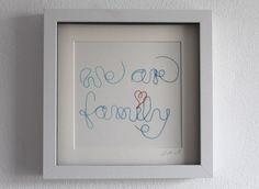 """Weiteres - """"We are familiy"""", Faden - ein Designerstück von GrafikundKunst bei DaWanda"""