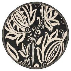 Safavieh Gori Round Patio Rug - BLACK