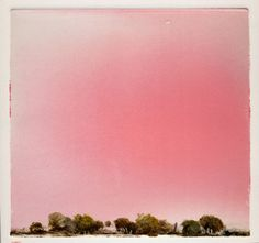 """vjeranski: """"Wendy Mark """"RED SKY"""" (FOR JOHN ASHBERY) 7 ½"""" X 7"""" MONOTYPE, 2010 """""""