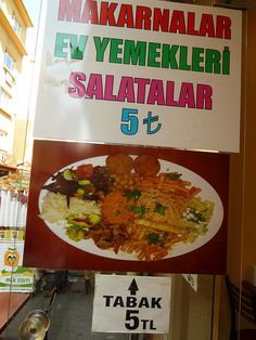 My favorite restaurant in Istanbul, Turkey, is this vegetarian place in Kadıköy for only 5TL!