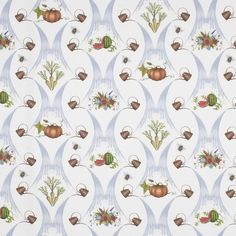 Watering Can Harvest Fabric