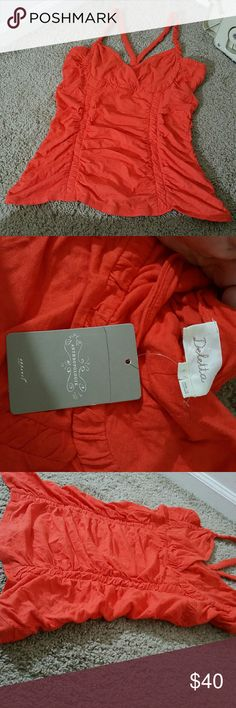 🌟NWT🌟 Anthropologie Deletta top Anthropologie Deletta top Size L Red/Rouge  New with tag! Anthropologie Tops