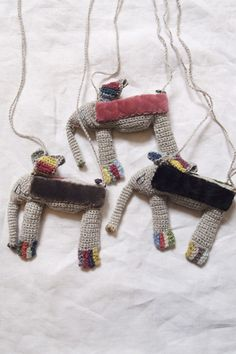 makie - sophie digard elephant necklace...you could make these as toys