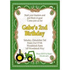 Cool FREE Template John Deere Printable Birthday Invitations Baby