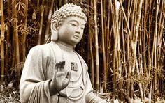 A mão aberta do Buda