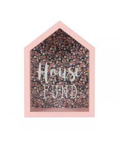 Tirelire en bois House Fund www. Money Saving Box, Money Box, Box Houses, Pink Houses, Wedding Gift Boxes, Wedding Gifts, Wedding Bells, Travel Shadow Boxes, Behr Colors