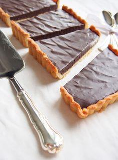 Heippa taas! Kaikkien pääsiäisreseptien tilalle jotain ihanaa supersuklaista. Piiras jonka täyte on just sitä suklaata. Sisus on siis suklaaganache-tyylinen. Tämän jälkeen ei pitäisi suklaahammasta kolottaa! Pohja: 4 ½ dl vehnäjauhoja1 tl leivinjauhetta1 dl sokeria 1... Finnish Recipes, Cheesecakes, Delicious Desserts, Food And Drink, Pie, Sweets, Baking, Tarts, Torte