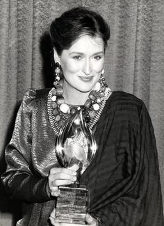 In silk and lots of baubles at the People's Choice Awards in 1986.