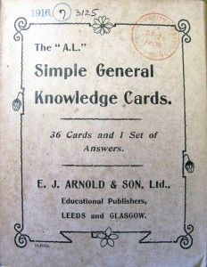 """The """"A.L."""" simple general knowledge cards"""