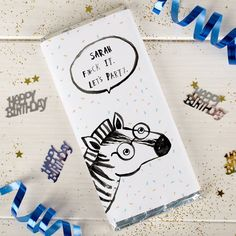 Personalised Chocolate Bar - Banter Pants Let's Party |  GettingPersonal.co.uk