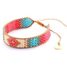 Loom Bracelet Patterns, Bead Loom Bracelets, Bead Loom Patterns, Seed Bead Jewelry, Bead Jewellery, Beaded Jewelry, Handmade Jewelry, Bead Loom Designs, Leather Jewelry Making