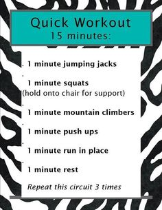 Quick 15 minute workout