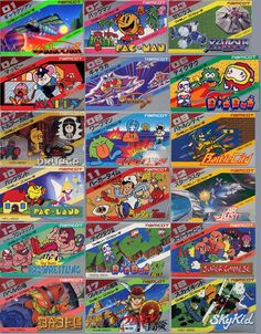 NAMCO Retro Video Game Covers for JP