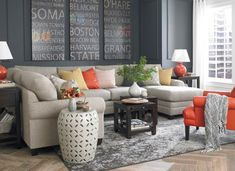 grayish brown small sectional sofa with colorful pillows of Fill Your Small Corner Space with Sectional Sofa