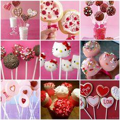 inspiration board for Valentine Pops