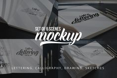 Lettering & Drawing Mockup Set 3 by AwesomeMockups on Creative Market