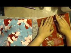 Napkin Inspired Art Journal Page with JournalArtista - YouTube