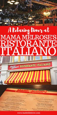 Dinner at Mama Melrose's Ristorante Italiano in Disney's Hollywood Studios – Famous Last Words Disney Vacation Planning, Disney World Planning, Walt Disney World, Disney Parks, Trip Planning, Disney Resorts, Disney Vacations, Disney Travel, Disney Tips