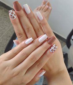 Acrylic Nail Designs, Nail Art Designs, Acrylic Nails, Sassy Nails, Love Nails, Peach Nails, Manicure Y Pedicure, Nail Decorations, Stylish Nails