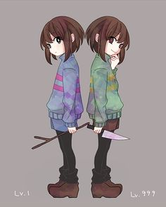 Love this fanart of Chara and Frisk