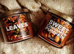 leaves and sweet cinnamon pumpkin by bath & body works. My two fall faves!