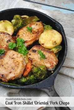 Oriental Pork Chops Cast Iron Skillet Recipe - From Val's Kitchen