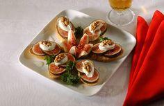 Recette Crostinis aux figues et aux noix http://www.ilgustoitaliano.fr/recette/crostinis-aux-figues-et-aux-noix
