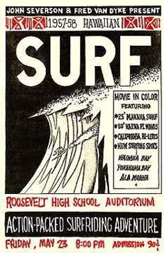 "Surfwarez: Vintage Collectibles - Surf Movie Memorabilia - John Severson's ""SURF"" (1958)"