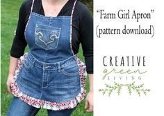 Recycled Denim Apron PDF Pattern Download