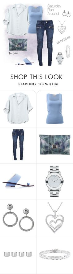 """""""Saturday Run Around"""" by debbie-michailides ❤ liked on Polyvore featuring Michael Kors, Balmain, Kara Ross, Abcense, Movado, Moschino, Maison Margiela and Chanel"""