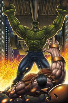 #Hulk #Fan #Art. (Hulk Vs Juggernaut Colored) By: DAVID-OCAMPO.