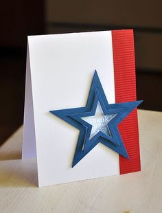 Patriotic Thank You Card by Maile Belles for Papertrey Ink (June 2012)