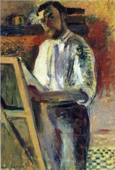 Henri Matisse - Self-Portrait in Shirtsleeves [1900]