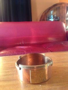 Chase Copper and Brass, (Chase Chrome) Art Deco Rare Rockwell Kent Wine Coaster