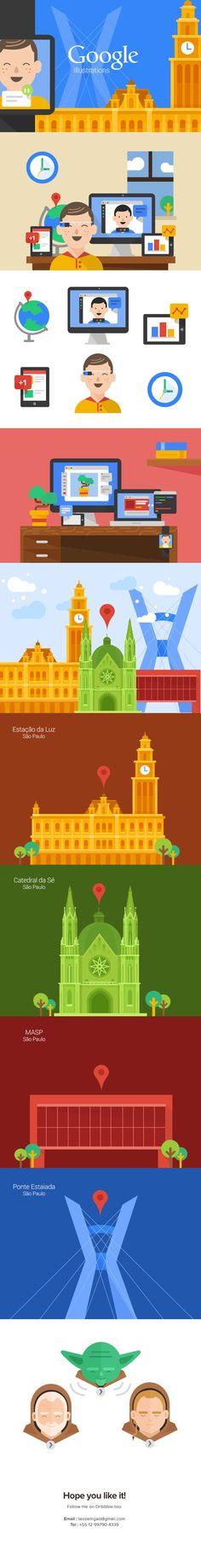 #flat_illustration #google #Leonardo_Zem