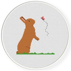 FREE for April 14th 2017 Only - Bunny And Butterfly Cross Stitch Pattern
