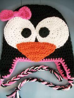 Baby Girl Infant Toddler Crochet Animal Penguin by wadamska