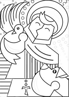 MaestraEmily: SAN FRANCESCO Angel Art, Quilling, Stencils, Prayers, Kids Rugs, Crafts, Paintings, Iron Decor, Pointillism